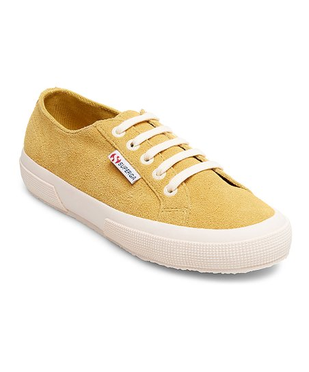 Superga Mustard Suede Sneaker - Women
