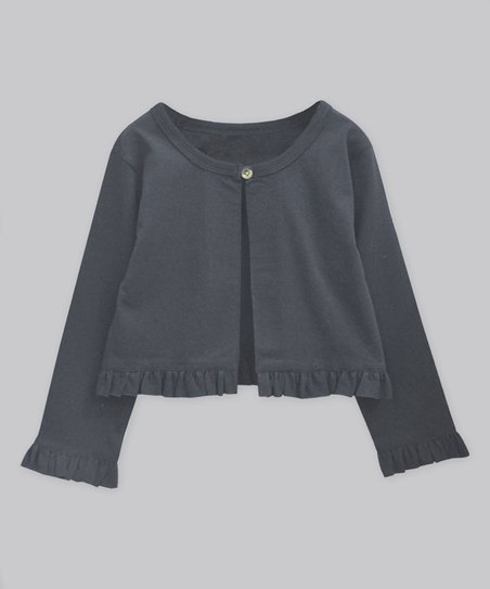 8018ce31e A.T.U.N. Charcoal Gray Evie Cardigan - Infant