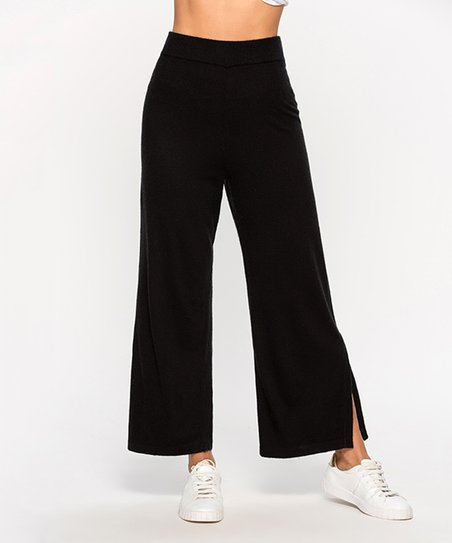083cd84951ed13 Coeur de Vague Black High-Waist Wide-Leg Pants - Women | Zulily