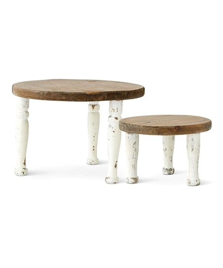 Incredible Wooden Milking Stool Set Zulily Gamerscity Chair Design For Home Gamerscityorg