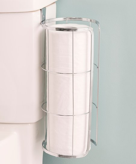 Home Basics Chrome Over The Tank Toilet Paper Holder Zulily