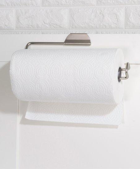 Home Basics Satin Nickel Over The Door Paper Towel Holder Zulily