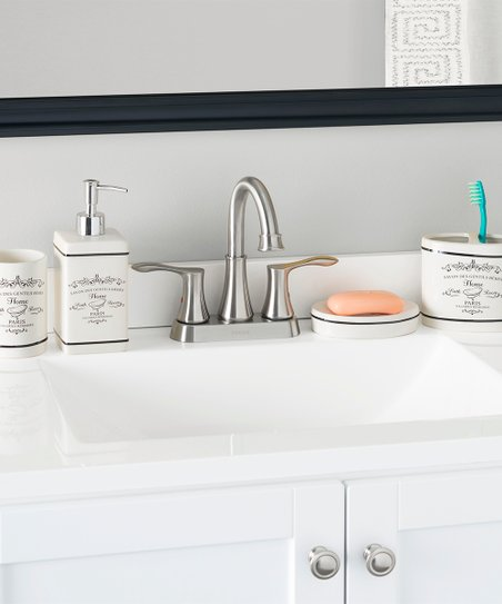 Love This Product White U0026 Black Bathroom Accessory Set Paris