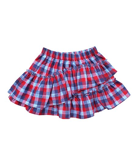 95e184eeb5 Sophie Catalou Red Plaid Ruffle Skirt - Toddler & Girls | Zulily