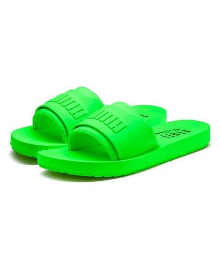 df2a1f8346eb Fenty PUMA by Rihanna Green Gecko Fenty Surf Slide - Men