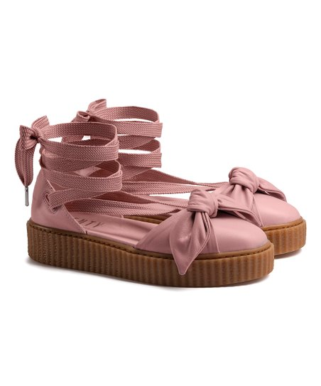 ec16c27c5ee9 love this product Silver Pink   Oatmeal Bow Creeper Leather Sandal - Women