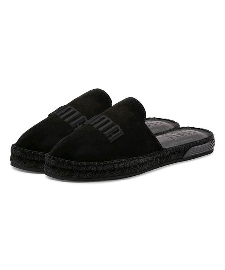 separation shoes f47c2 4704e Fenty PUMA by Rihanna Black Fenty Suede Espadrille Slide - Women