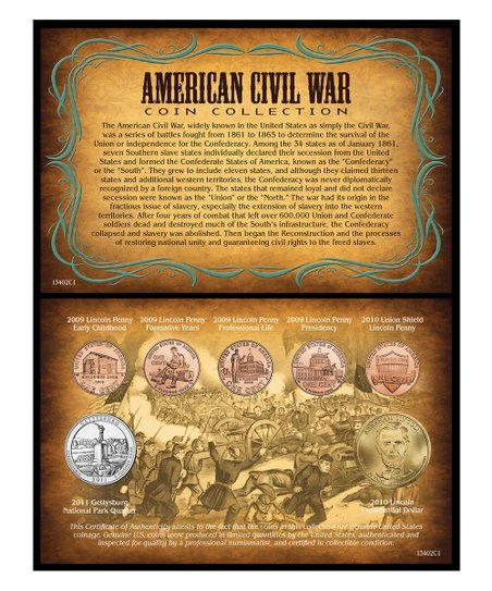 American Coin Treasures 'American Civil War' Coin Set