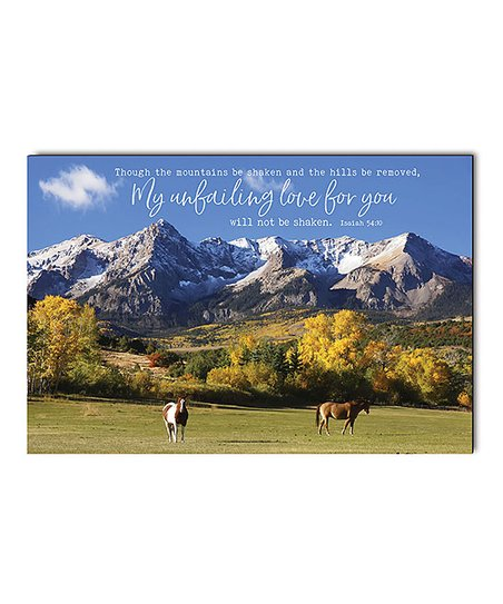 P Graham Dunn My Unfailing Love Mountains Wood Wall Art