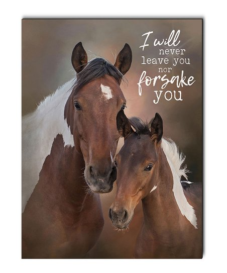 9c759403d6b love this product  I Will Never Leave You Nor Forsake You  Horse Wood Wall  Art
