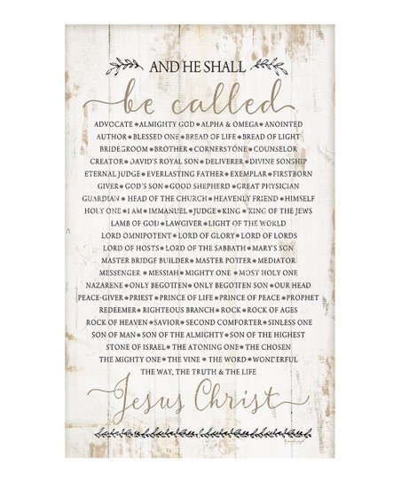 aac20ca8 P. Graham Dunn And He Shall Be Called Jesus Christ… Wall Sign   Zulily