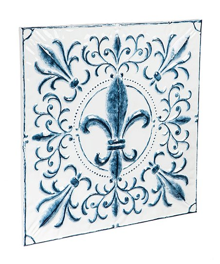 Evergreen Blue White Embossed Fleur De Lis Wall Art Best Price And Reviews Zulily