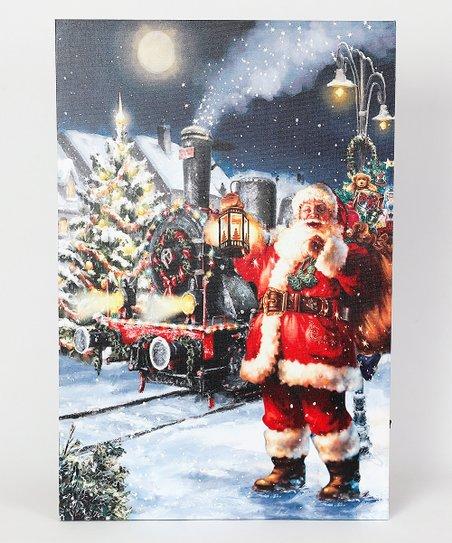 Winsome House Winter Wonderland Santa LED Canvas