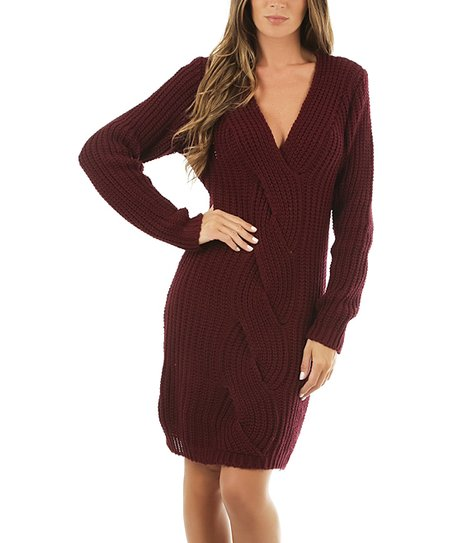 576d384ac77 La Fabrique de la Maille Red Twist Sweater Dress - Women