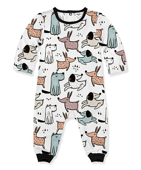 15606e8715b PeppyMini Black   White Puppies Playsuit - Infant   Toddler