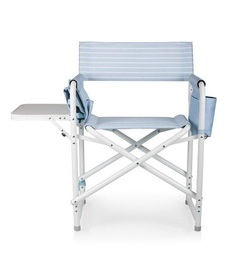 Denim Blue Stripe Directoru0027s Outdoor Folding Chair