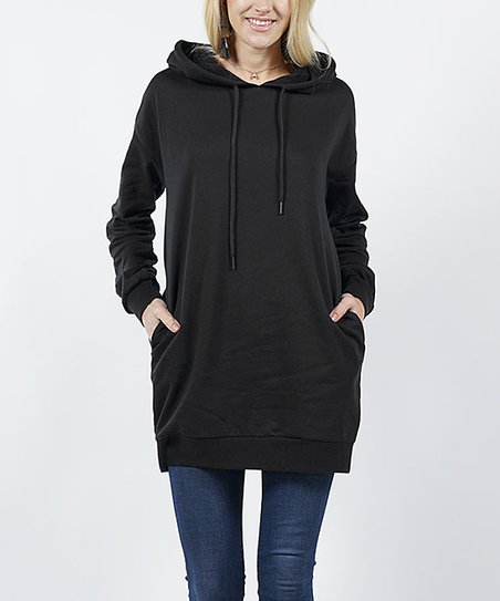 cf23dacb1a8 love this product Black Side-Pocket Hooded Tunic - Juniors