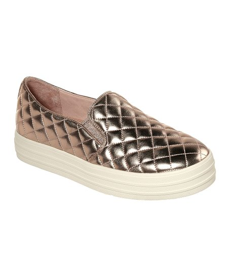 51d6385185e0 love this product Rose Gold Duvet Double Up Slip-On Sneaker - Women