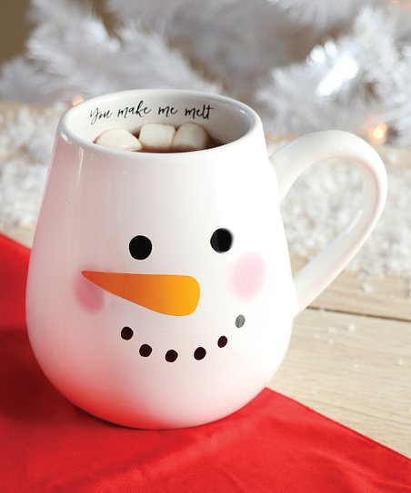 DEI Snowman Face 'You Make Me Melt' Ceramic Mug
