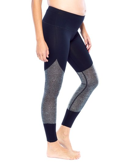 237ee2d7b0 love this product Silver High-Waist Mesh Panel Compression Leggings