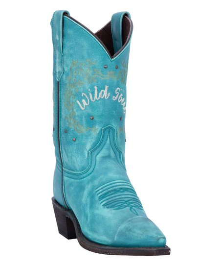 b1715f49a71 Laredo Teal Embroidered 'Wild Soul' Leather Cowboy Boot - Women