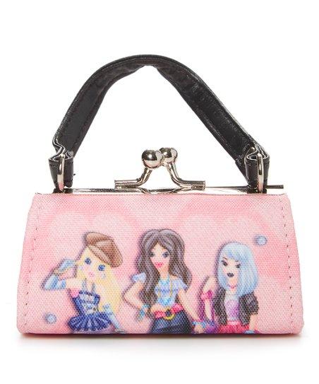 f5c8776d6d GiftTrenz Pink Kiss-Lock Fashion Girls Shoulder Bag | Zulily