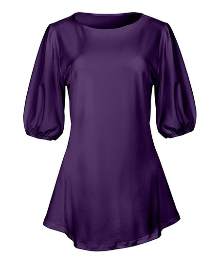471e08128bc love this product Purple Fit & Flare Tunic - Women & Plus