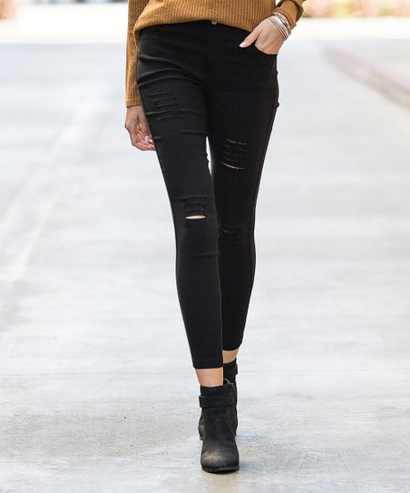 d14e467c51544 love this product Black Distressed Jeggings - Plus