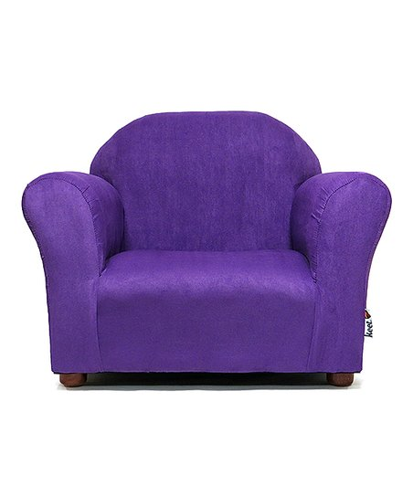Keet Purple Roundy Microsuede Kidsu0027 Chair