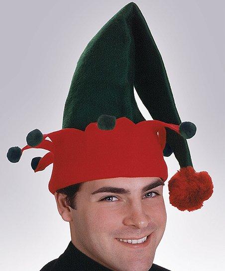 2fd1f6e01e5a2 Rubies Green   Red Elf Hat