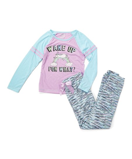 love this product Purple  Wake Up  Fleece Pajama Set - Girls 1eded2db2
