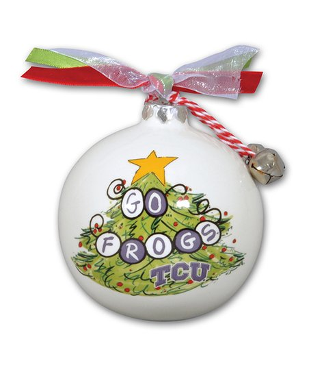 TCU Horned Frogs 'Go Frogs' Ornament - Magnolia Lane TCU Horned Frogs Go Frogs Ornament Zulily