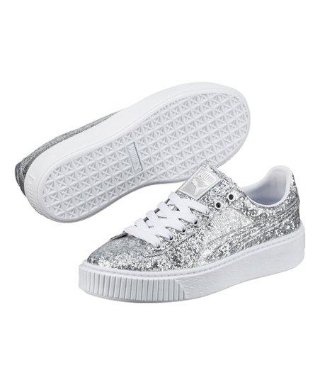 love this product Silver Basket Platform Glitter Platform Sneaker - Women 30821b1d3