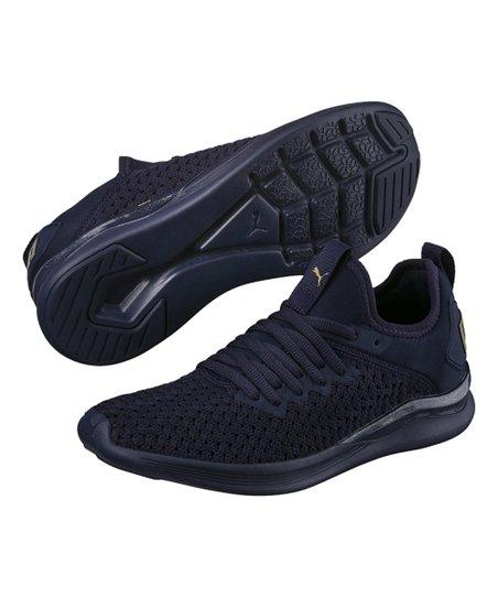 love this product Peacoat   Metallic Gold Ignite Flash Varsity Sneaker -  Women e78f0a20ca
