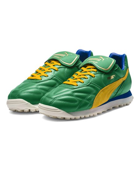 eb79c2dad5497 PUMA Amazon Green & Spectra Yellow King Avanti Leather Sneaker - Men