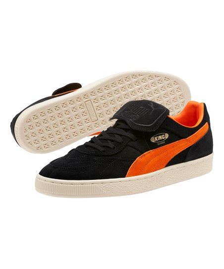 dec587f9d958 Black   Vibrant Orange King Suede Legends Sneaker - Men · Mens Puma Black-Vibrant  Orange-Whisper White ...
