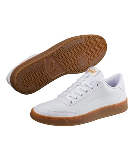 786468b93a0d love this product White   Metallic Gold Court Breaker L Mono Sneaker - Men