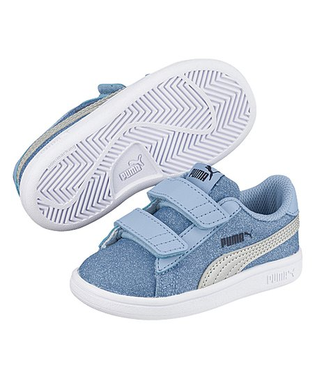 b5ced8f1192 PUMA Cerulean   Silver Smash V2 Glitz Glam V PS Sneaker - Girls