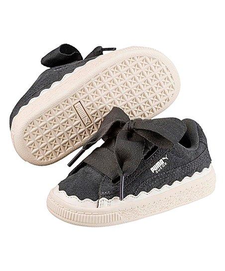 PUMA Kids Suede Heart Rubberized Sneaker