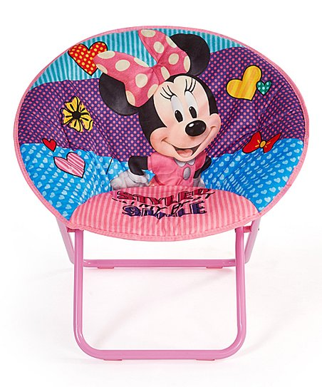 Swell Disney Minnie Mouse Pink Folding Saucer Chair Zulily Alphanode Cool Chair Designs And Ideas Alphanodeonline