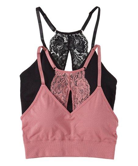 d3af93e5606 Marilyn Monroe Intimates Pink   Black Lace Bralette - Women