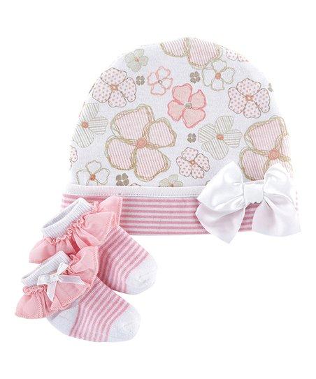 love this product Pink Playful Posies Cap   Socks Set - Newborn 4a4e4981841