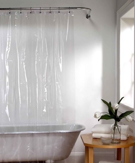 Clear Eyelet Shower Curtain