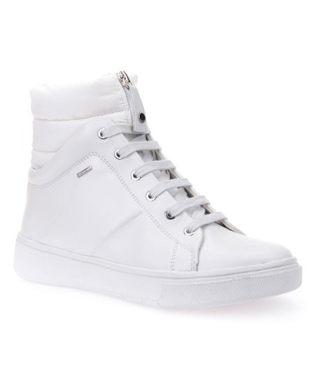 e70ac61aed1 love this product White Mayrah Leather Hi-Top Sneaker - Women