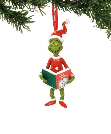 How the Grinch Stole Christmas! Grinch & Book Ornament - Enesco How The Grinch Stole Christmas! Grinch & Book Ornament Zulily
