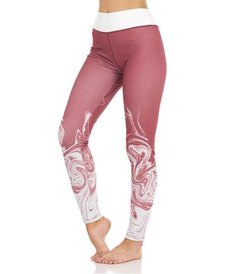 142c2a13c5209c S2 Sportswear Dusty Cedar Marble Leggings - Women | Zulily