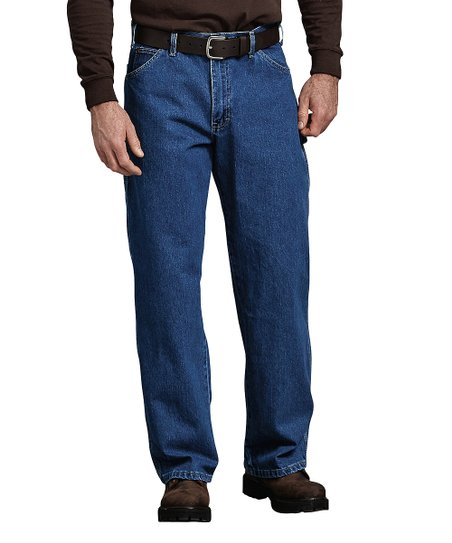 cf9800388 love this product Stonewashed Indigo Blue Relaxed-Fit Straight Leg Carpenter  Jeans - Men & Big