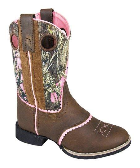 eab32cc7ad460 Smoky Mountain Boots Brown & Camo Cowboy Boot - Kids | Zulily