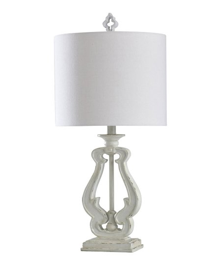 Gray White Distressed Robert Table Lamp Zulily