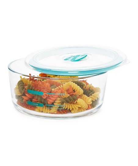Teal Décor Match Ups Realseal Round 32 Cup Glass Container Zulily